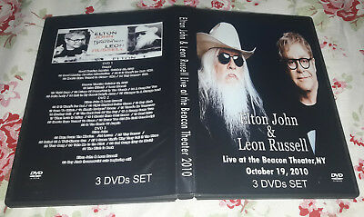 Elton John and Leon Russel - Beacon Theatre 10-19-10 SPECIAL FAN EDITION 3 DVDs