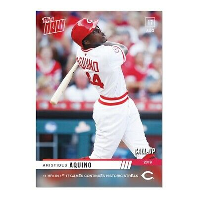2019 Topps NOW 699 Aristides Aquino CALL-UP Cincinnati Reds [8.17.19]
