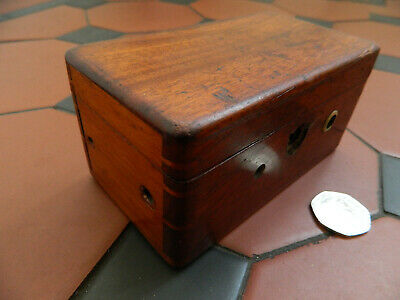 Antique Original Victorian 1862 Medical Equipment Mahogany Box Magneto Electric