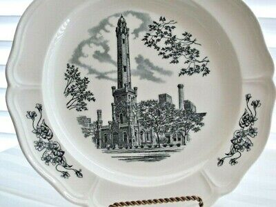 Wedgwood Queensware The Water Tower Chicago Marshall Field & Co. #1 PLATE