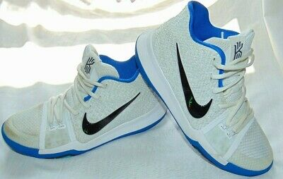 the best attitude a1a65 92161 YOUTH BOYS BLUE & White NIKE Kyrie Irving 3 859466-102 Sneakers Shoes Sz  5.5 Y