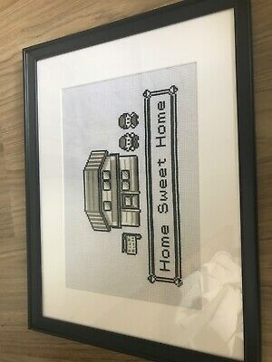 Pokemon 'Home Sweet Home' Cross Stich - Hand Made - Framed