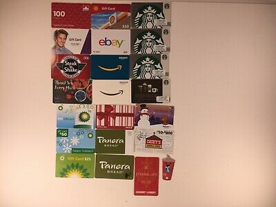 Lot of 17 Used Empty & 4 Unused Gift Cards PLUS 1 Wendy's Card & 1 Target Coin!