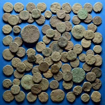 Lot of 100 AE1 AE2 AE3 AE4 Size Uncleaned Low Quality Roman Coins #2