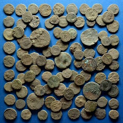 Lot of 100 AE1 AE2 AE3 AE4 Size Uncleaned Low Quality Roman Coins #3