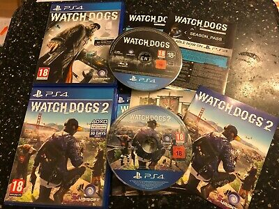 2 x PLAYSTATION 4 PS4 GAMES WATCH DOGS 1 / I & WATCHDOGS 2 / II