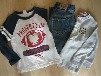 Baby Gap Carters Long Sleeve Shirts & Jeans Toddler Boy 4T