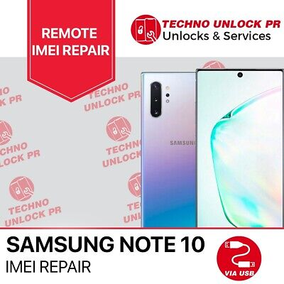 SAMSUNG Galaxy Note 10  REMOTE REPAIR Clean Service and unlock