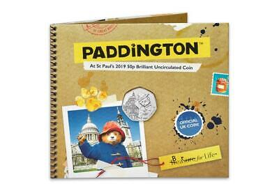 2019 Paddington Bear at St Paul's Cathedral  50p UK Coin In Presentation folder