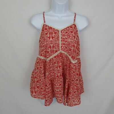 Xhilaration Baby Doll Top Red Cutout size Small