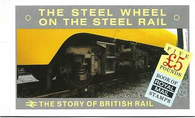Prestige Stamp Books 18 March 1986 The Story of British Rail £5 Full Set Stamps.