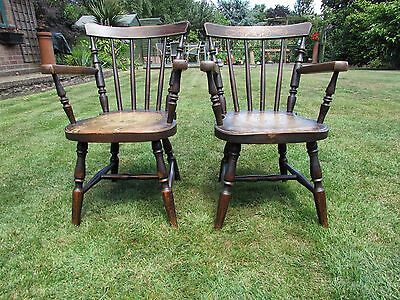 Pair of Antique Victorian Child's, Dolls, Bears Chairs