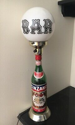 1957 Vintage Cinzano Italian Vermouth Bottle Lamp