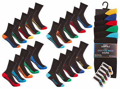 Multi Pack Socks Boys Cotton Rich Days Of The Week School Socks Gift Idea Cheap