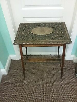 Antique Top Quality Georgian Oak Carved Side Table.   YORK ??