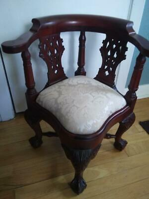 Vintage American Reproduction of Childs Chippendale Mahogany Corner Chair