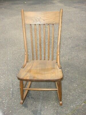 Antique Solid Maple Rocking Chair