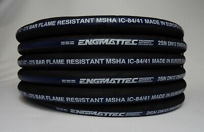 """Hydraulic Hose 1/2"""" 2 Wire 10 Meters SAE 100R2AT-08 MSHA Made in Europe 4000 PSI"""