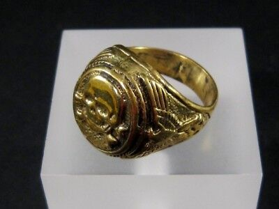 OUTSTANDING VINTAGE REPLICA of a GERMAN MASSIVE BRONZE RING+++