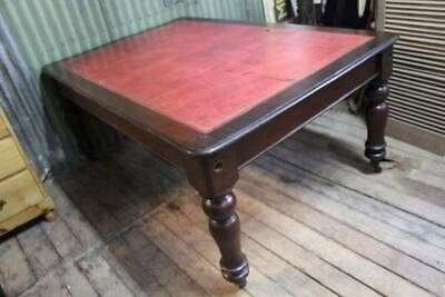 A Large Victorian Cedar Bankers Desk - Partners Desk - Library Table