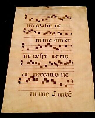Medieval Illuminated Manuscript Choir Page Gothic European / French