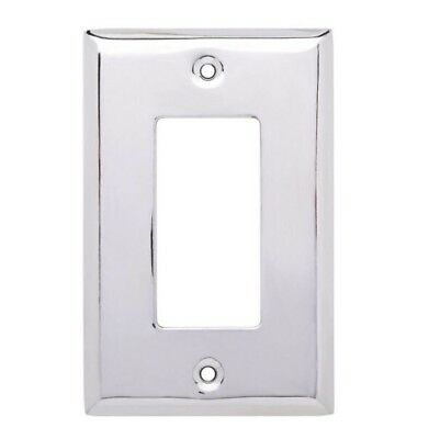 Hampton Bay Stamped Polished Chrome Square Decorative Single Rocker Switch Plate