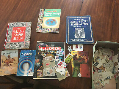 Stamp collection lot including books and loose stamps, U.S. and International