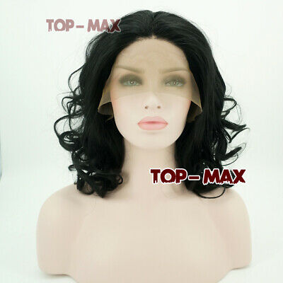 Fashion 11 Inches Natural Black Short Curly Women Ladies Lace Front Wig+Free Cap
