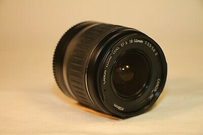 Canon EF-S 18-55mm 1:3.5-5.6 II Manual/Auto Focus Zoom Lens w/Caps