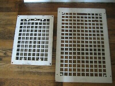 Vintage Antique Heavy Cast Iron Floor Grill Grate Heat Register Vent 16 X 24