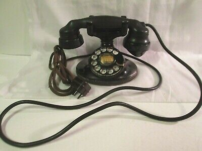 Antique 1920's Western Electric E1 Handset Rotary Desk Telephone