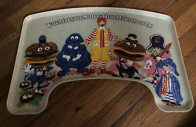 McDonalds Childs High Chair Tray Ronald Mcdonald Fast Food Vintage Characters