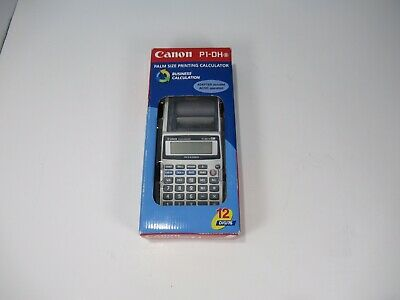 Canon P1-DH III PALM SIZE PRINTING CALCULATOR Adater Included AC/DC Operation G1