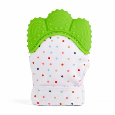 Green Baby Silicone Mitts Teething Mitten Teething Glove Candy Wrapper Teether