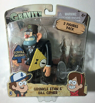 Disney XD Gravity Falls Grunkle Stan and Bill Cipher 2 Figures Pack