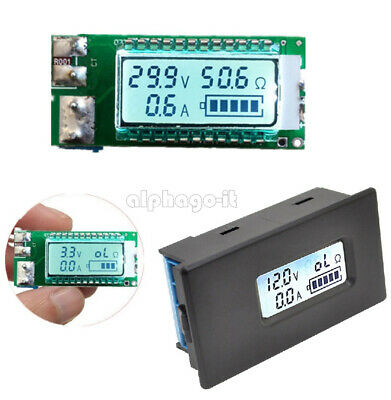 26650/18650 Lithium Li-ion Battery LCD Capacity Current Meter Tester with Case T