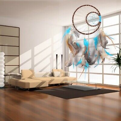 NEW Big Moon Dream Catcher With Feathers Wall Hanging Ornament Home Bedroom Gift