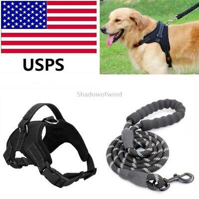 2PCS No Pull Pet Control Harness for Large Dogs Adjustable Nylon Vest S/ML/XL