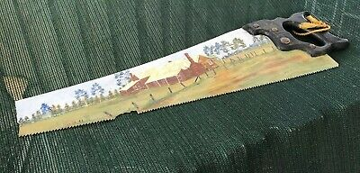 Ned Kelly's Home Stead Unique Hand Painted Hack Saw- Warranted Superior