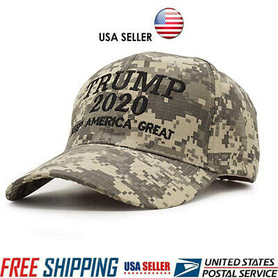 Trump 2020 Hat Digital Camo Keep America Great MAGA Embroidered Election Cap US