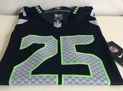 sports shoes 467d4 7cacf NFL JERSEY RICHARD SHERMAN Seahawks Home Blue Size YOUTH XL ...