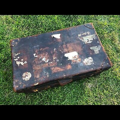 Leather Shipping Trunk