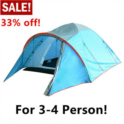 Waterproof 3 Person Camping Tent Automatic Folding Quick Shelter Outdoor Hiking