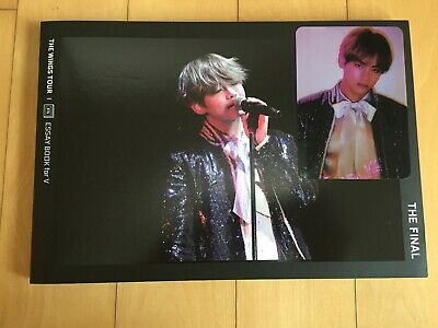 BTS V TAEHYUNG [ Wings Tour Final Official Essay Book With Photocard ] /NEW/+GFT