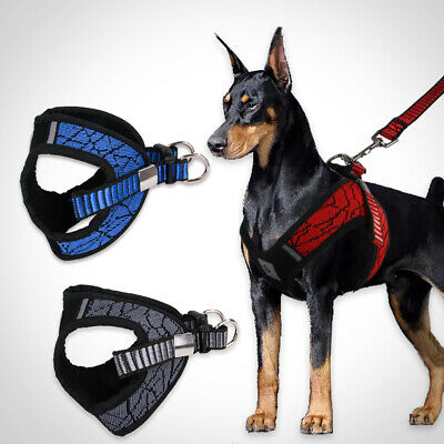 No-pull Dog Harness Collar Lead Adjustable Padded Resistant Non Pull Vest Puppy