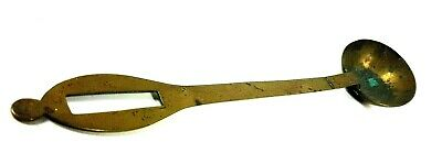 """A Lovely Large Antique Brass Ladle approx 17"""" Long Handled Spoon"""