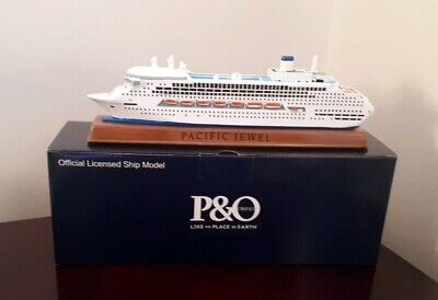 P&O Pacific Jewel Polyresin Model Cruise Ship Official Licensed Model