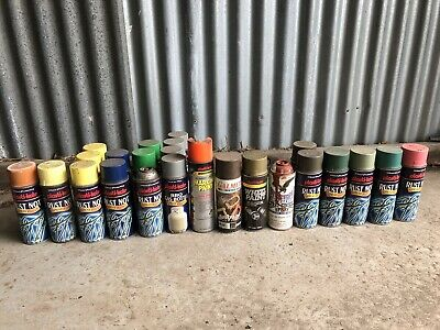 24 Cans Of Plastikote Spray Paint Rust Not Etc