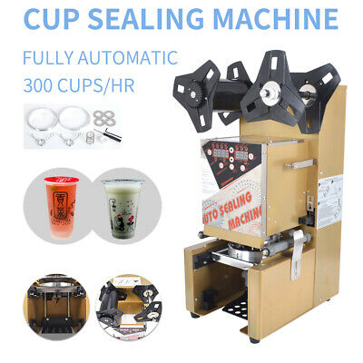 350W 110V Automatic Plastic Drink Tea Cups Sealer Sealing Machine