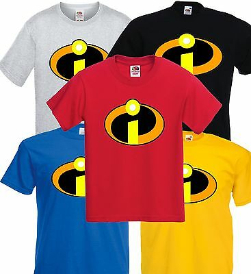 THE INCREDIBLES Super Hero T Shirt Childrens Kids Size 3-15